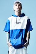 【予約商品】Zephyren(ゼファレン)MIX BIG HOODY S/S BLUE / WHITE