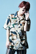【予約商品】Zephyren(ゼファレン)OPEN COLLAR BIG SHIRT S/S BEIGE / CAMO