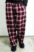 VIRGO VG-PT-229A NOSTALGIC CHECK PANTS RED