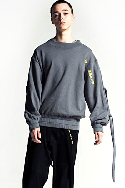 PARADOX - STRING SHOULDER SWEAT (GRAY)