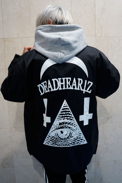 DEADHEARTZ WORLD COACH JACKET BLACK