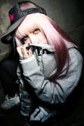 RIP DESIGN WORXX Rest in Punk ボリュームネックパーカー GRAY