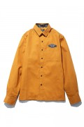 Subciety(サブサエティ) WORK SHIRT  L/S-DUST BIN GARAGE- BROWN