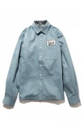 Subciety(サブサエティ) 105-20121 EMBLEM SHIRT L/S SKYBLUE