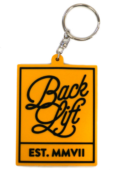 BACK LIFT RUBBER KEYHOLDER YELLOW