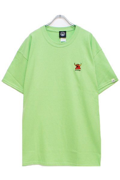 TOY MACHINE TMS19ST1 MONSTER MARKED EMBROIDERY SS TEE LIME