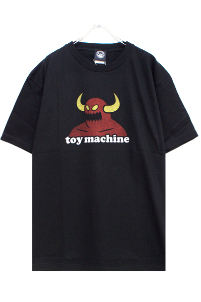 TOY MACHINE TMS20ST9 TOYMONSTER LOGO PRINT SS TEE BLACK