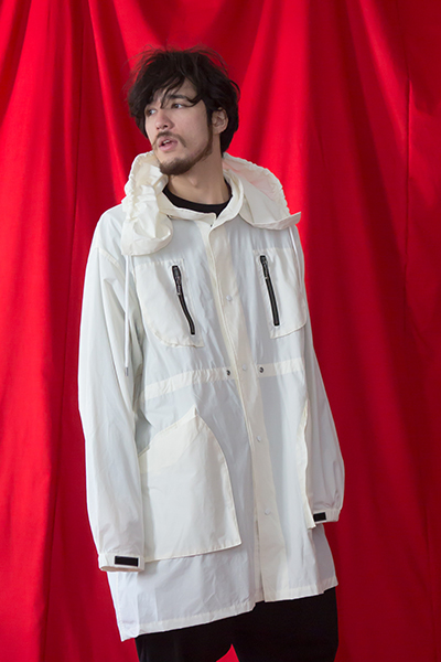 VIRGO WATER REPELLENT MILITARY COAT WHITE