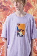 "LILWHITE(dot) LW-19SS-T03 ""TALENT"" TEE PURPLE"