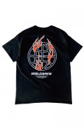 "LILWHITE(dot) LW-19SS-T06 ""WORLD""TEE BLACK"
