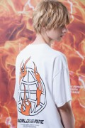 "LILWHITE(dot) LW-19SS-T06 ""WORLD""TEE WHITE"