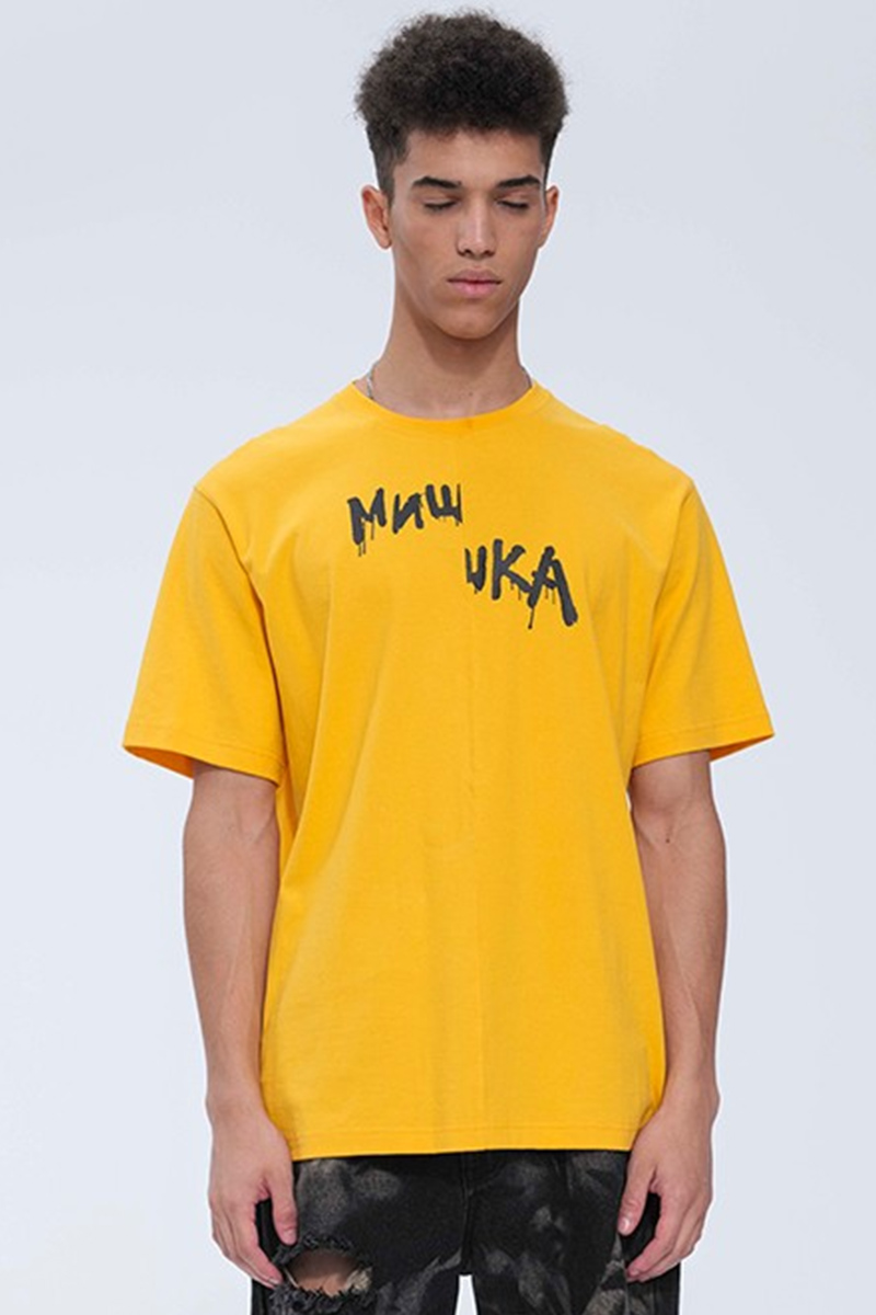 MISHKA MSS200008F53 T-SHIRTS YELLOW