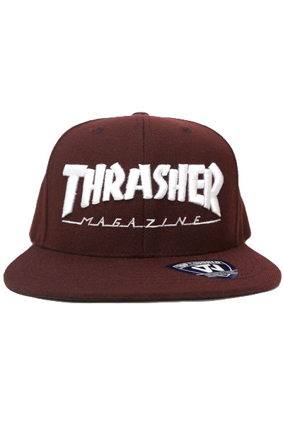 THRASHER MAG LOGO SNAP BACK 17TH-C50 BRG/WHT