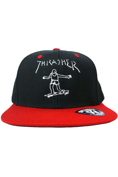 THRASHER SNAP BACK 17TH-C64 BLK/RED