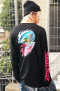 SANTA CRUZ WAVE SLASHER LS TEE BLACK
