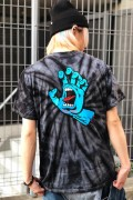 SANTA CRUZ SCREAMING HAND TEE SPIDER BLACK