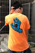 SANTA CRUZ SCREAMING HAND TEE NEON MANGO