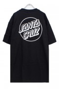 SANTA CRUZ OPUS DOT SS TEE BLACK/WHITE