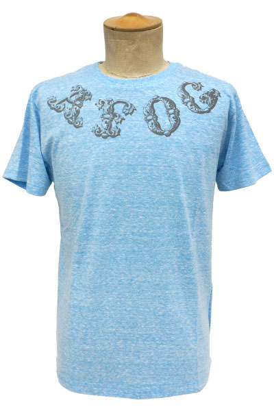 a flood of circle AFOC LOGO TEE BLUE