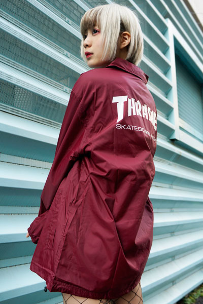 THRASHER TH8901C MAG LOGO COACH JKT BUR