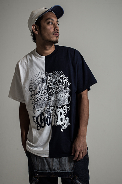 GoneR GR17CT002 Proverb T-Shirts White × Navy