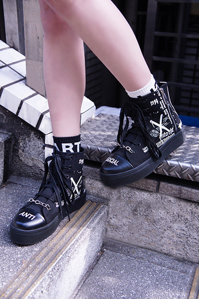DISTURBIA CLOTHING Noise Sneaker