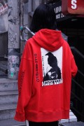 NOT COMMON SENSE FUXX THE POLICE SEAM HOODIE RED
