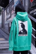 NOT COMMON SENSE FUXX THE POLICE SEAM HOODIE L/GREEN