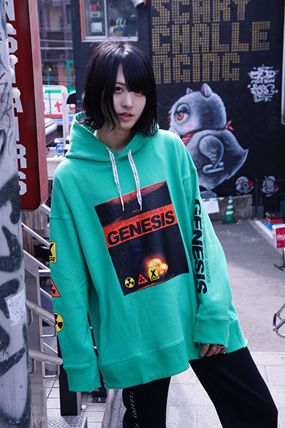 NOT COMMON SENSE GENESIS SEAM HOODIE L/GREEN