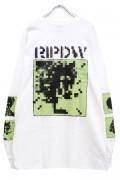 RIP DESIGN WORXX モザイクロゴ L/SポケットTシャツ WHITE