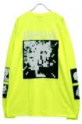 RIP DESIGN WORXX モザイクロゴ L/SポケットTシャツ NEON YELLOW