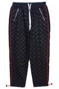 KONUS K-61401 Checker Printed Swishy Pants / F1 Black