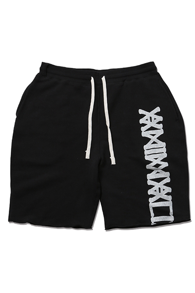 ANIMALIA AN18U-PT05 TRACK SHORTS-Slashed BLACK
