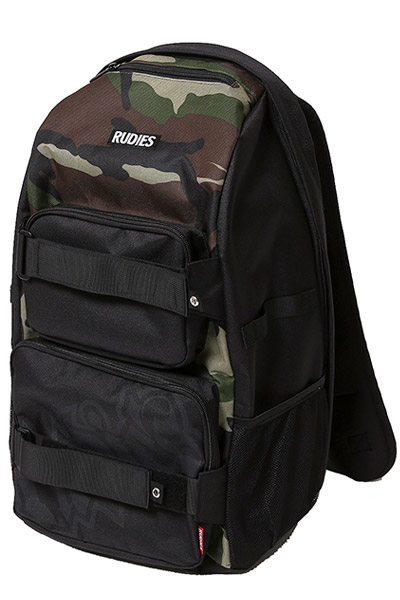 RUDIE'S SPARK SKATE BACKPACK BLACK/CAMO