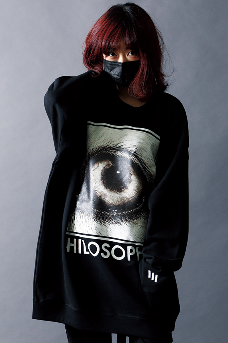 SILLENT FROM ME PHILOSOPHY -Crew Sweat- BLACK