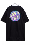 SANTA CRUZ SPILL DOT REGULAR SS TEE BLACK