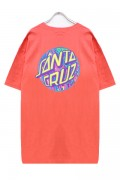 SANTA CRUZ SPILL DOT REGULAR SS TEE CORAL