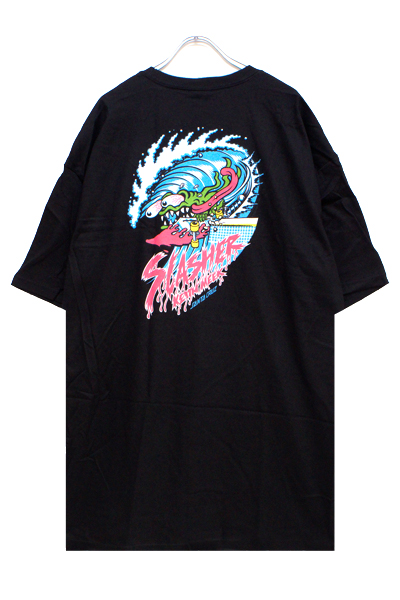 SANTA CRUZ WAVE SLASHER SS TEE BLACK