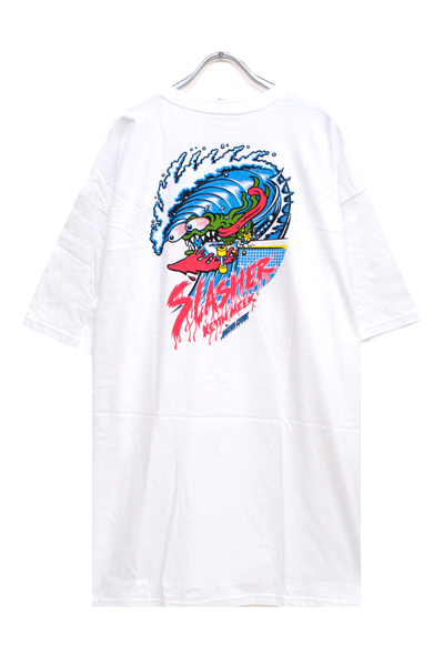 SANTA CRUZ WAVE SLASHER SS TEE WHITE
