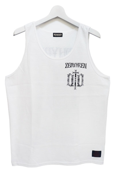 Zephyren(ゼファレン) TANK TOP -ENGRAVE- WHITE