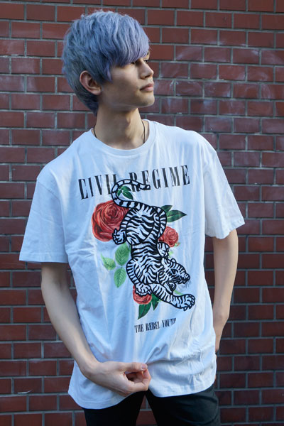 Civil Regime (シビル・レジーム) Rebel Tiger Tee in White