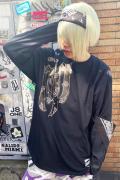 RIP DESIGN WORXX ブラサードロングスリーブTシャツ BLACK