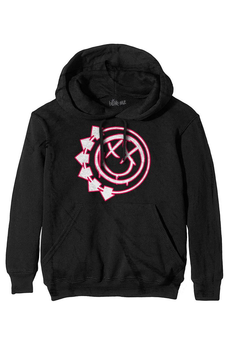 BLINK-182 UNISEX PULLOVER HOODIE: SIX ARROW SMILEY