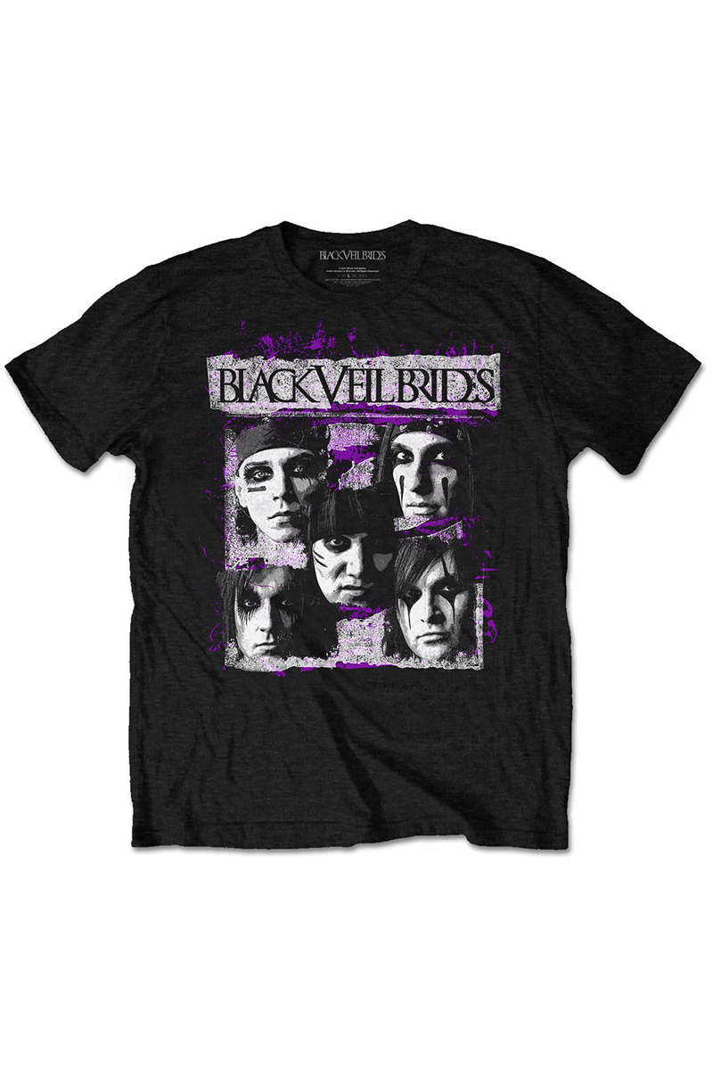 BLACK VEIL BRIDES UNISEX TEE: GRUNGE FACES
