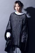 SILLENT FROM ME OBSCURE -Mesh Knit Sweater- BLACK