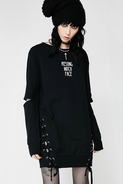 KILL STAR CLOTHING Resting Witch Face Sweatshirt [B]