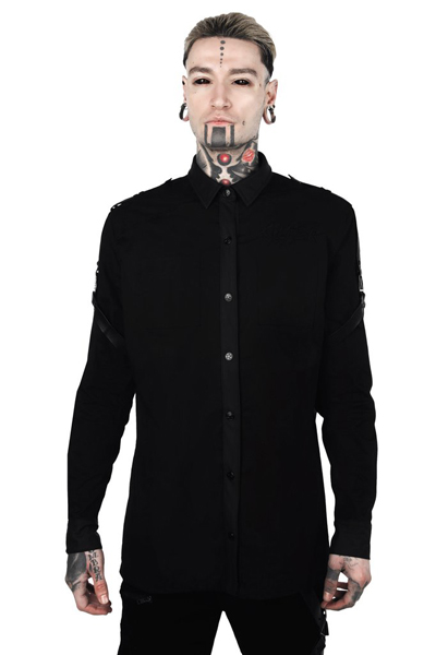 KILL STAR CLOTHING Death Wish Button-Up Shirt [B]