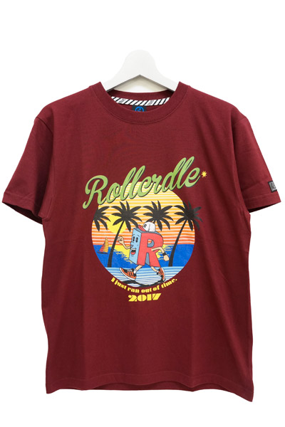 ROLLING CRADLE R-kn BEACH RUNNING T-SHIRT Burgundy