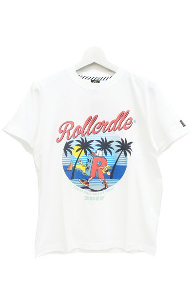 ROLLING CRADLE R-kn BEACH RUNNING T-SHIRT White