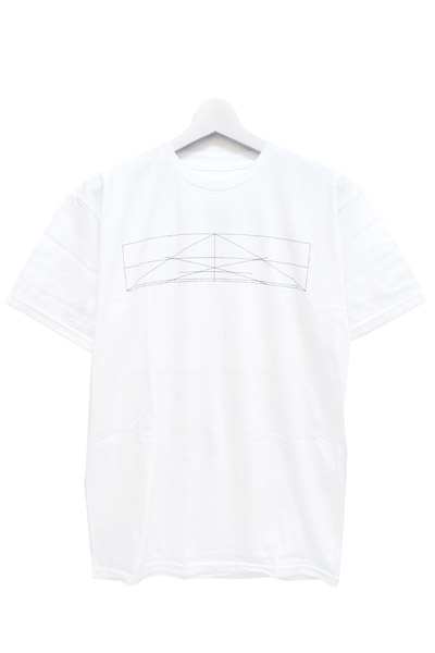 BLACK SCALE HOUSE CROSSED T-SHIRT WHITE